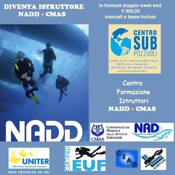 Corso Istruttori NADD- CMAS,  1/2 E 8/10 DICEMBRE 2017